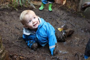 mud bath at preschool